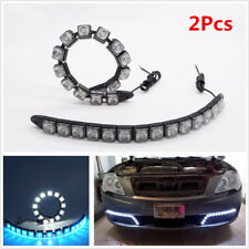 2 Pcs Car COB LED DRL Driving Fog Light Daytime Running Light Turn Signal Light