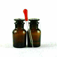 Ground Glass Wide Mouth Stopper Lab Brown 60ml Glass With Drop Reagent Bottle