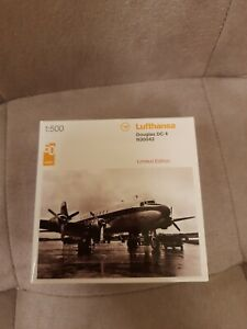 HERPA Miniaturmodelle, Flugzeug Douglas DC 4 Lufthansa 60 Jahre, 1/500