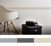 selbstklebende Tapetenbordüre Grau Schwarz Beige | Geometrischeborte Wohnzimmer