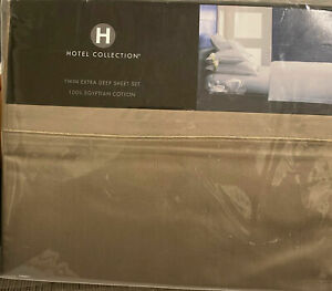 HOTEL COLLECTION 525 TC 100% Cotton Extra Deep Twin 3 PC Sheet Set $270 NEW