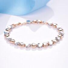 Splendid Love Heart Design 18K Gold Filled Wedding New Bracelet Chain For Women