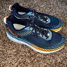 Men's Hoka One One Clifton 5 Wide Blue/Orange Running Shoes Size 11