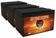 QTY:3 Zida 500WET36V Comp. VMAX64 AGM SLA VRLA Deep Cycle 12V 15Ah ea Battery