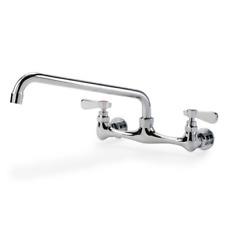 Commercial Kitchen Restaurant Faucet 8 Center Splash Mount Faucet With 12 Spout