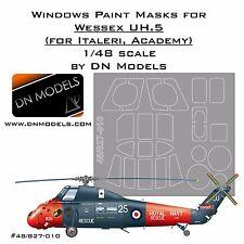 Window Paint Masks Set Westland Wessex UH.5 1/48 Italeri Academy DN Models