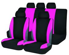 car seat covers set washable breathable lady pink fashion rear bench split 40/60