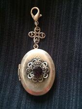 Jewels By Parklane Necklace Pendant Silver Locket Amethyst Stone Surprise SALE!