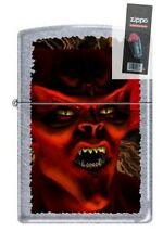 Zippo 5027 monster devil street DISCONTINUED - Rare Lighter + FLINT PACK