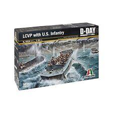 LCVP Landing Craft with U.S. Infantry D-Day Plastic Kit 1:35 Model 6524 ITALERI