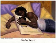African American Religious Art  Spiritual Nap II Mini - Sterling Brown 8 x 10