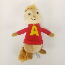 "Ty Beanie Baby Alvin and the Chipmunks 2011 Alvin Plush 7"" Retired Red Sweater"