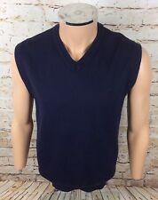 Vintage Adidas Golf Sleeveless Pullover Jumper Blue Wool Sz XL Mens