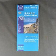 Carte IGN 1211 OT - Série Bleue - Les Pieux, Barneville-Carteret ( Manche )