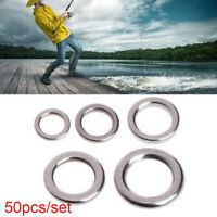 Solid  Double Stainless Steel Fishing Split Rings Fish Connector Swivel Snap