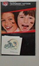 NFL MIAMI DOLPHINS 4 TEMPORARY TATTOOS FAST FREE SHIPPING