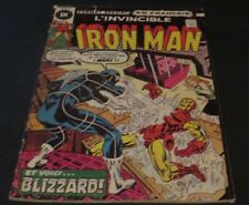 1975 THE INVINCIBLE IRON MAN # 41 IN FRENCH EDITIONS HERITAGE CANADA BLIZZARD