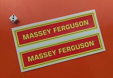 2 x massey ferguson autocollants decals 200mm x 45mm tracteur