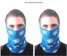 KENROD Pack 2 Bragas para el cuello unisex Talla única Color azul/blanco