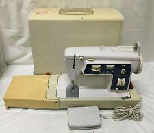 Vintage Singer Magic Bobbin Sewing Machine ~ 696U ~ Foot Pedal & Case ~ Works!