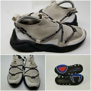 Champion Rally Flux White Athletic Running Tennis Shoes Sneaker Boy Size 6.5 Y