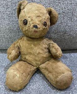 Estate Sale Find Antique Original Vintage Gently Used Stuffed Teddy Bear Toy