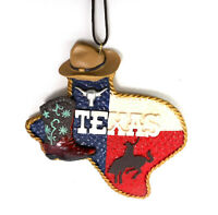State of Texas Embossed Western Rodeo Cowboy Hat Christmas Ornament by Midwest