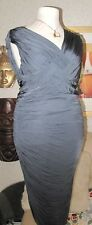 Phase Eight Dark Silver Grey Dress Size 18 with stretch fully lined