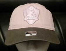 WOMEN L.A. GALAXY ADIDAS PINK CAP HAT OFFICIAL MLS ADJUSTABLE FIT FREE S&H