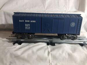 Vintage Marx Trains O Scale Baltimore & Ohio Blue Boxcar Rd#467110