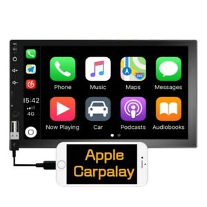 """7"""" Double Din Car Stereo Radio for Apple CarPlay Android Carplay MP5 Player FM"""