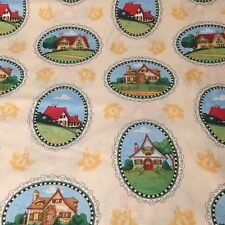 Mary Engelbreit Mary's Journey 100% cotton fabric by the yard House Vignettes