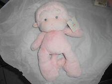 """GUND MEME 320410 PINK PLUSH LOVEY GRAY  STITCHED EYES 12"""" monkey ape soft new"""