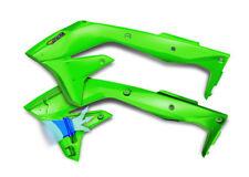 Cycra Flo Green Powerflow Radiator Shrouds For Kawasaki KX 450 F 16-17