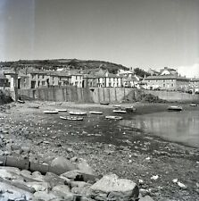 B/W 6x6 Negative Mousehole Cornwall 1949 Boats Moored +Copyright  W263