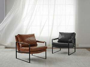 ARM CHAIR ACCENT SINGLE SOFA PU LEATHER UPHOLSTERED LIVING ROOM OFFICE BEDROOM