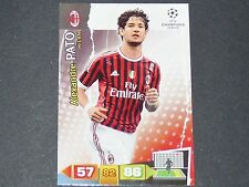 PATO ROSSONERI MILAN AC UEFA PANINI CARD FOOTBALL CHAMPIONS LEAGUE 2011 2012