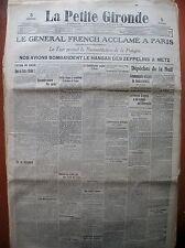 WW1 Gal FRENCH TSAR RECONSTITUTION DU ROYAUME DE POLOGNE LA PETITE GIRONDE 1914