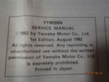 1982 YAMAHA YTM 200K SERVICE MANUAL