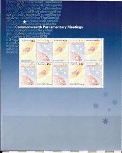 Australia 2001 Stars/Map/Commonwealth 10v P/Pack n15467