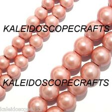 """MAGNETIC HEMATITE BEADS PEARLIZED PINK 4MM 16"""" STRAND P15B"""