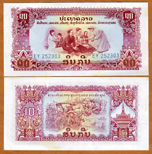 Lao / Laos, 10 Kip, ND Pick 20a, Ch. UNC > Pathet Government