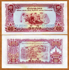 Lao / Laos, 10 Kip, ND Pick 20a, Ch. UNC > Pathet Government