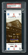 PSA 6 THE MONTREAL FORUM OF 1924 TICKET for The LAST SEASON at The FORUM