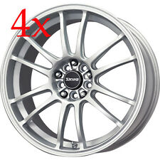 Drag wheels DR38 17x7 5x100 Silver Rims For PT cruiser Sebrin TC Impreza Outback
