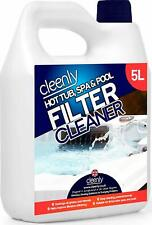 More details for cleenly hot tub cleaner spa pool filter chemical cleaning removes oil grease 5l