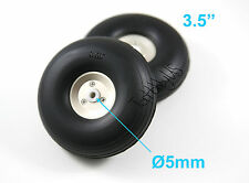 "Single Wheel of 3.5"" Light Weight RC Plane PU Wheels, Aluminum Alloy Hub 6-04011"
