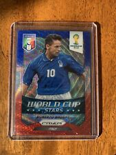 2014 Panini Prizm World Cup Roberto Baggio WC Stars Italy Blue White Red Wave