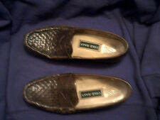 Cole Haan Brown Woven Leather Loafers Size 8.5 AA