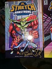 Stretch Armstrong and The Flex Fighters #1 And #2 2018 Signed By KB & CW
